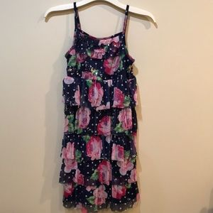 EUC!! Justice summer dress with sparkle ruffles